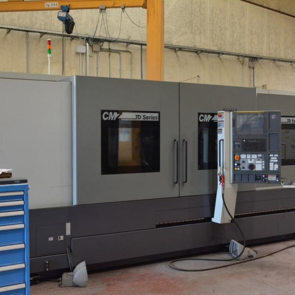 """NUMERICAL CONTROL LATHE WITH INCLINED BENCH AND AXIS Y """"CMZ"""" MOD. TD-45-Y"""